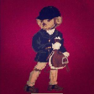 Ralph Lauren Equestrian Bear Sweater